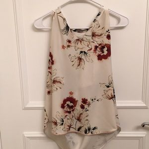 Draped back floral blouse ZARA